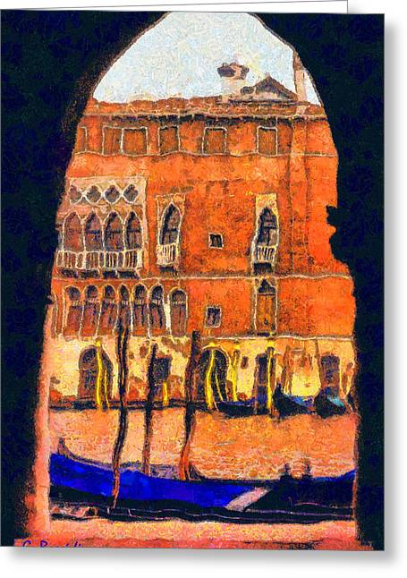 G.rossidis Greeting Cards - Venezia Greeting Card by George Rossidis