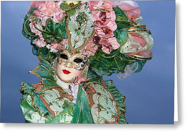 Carnivale Greeting Cards - Veneziana 003 Greeting Card by Per Lidvall