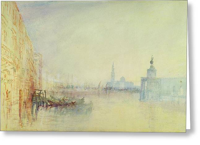 Romanticism Greeting Cards - Venice - The Mouth of the Grand Canal Greeting Card by Joseph Mallord William Turner