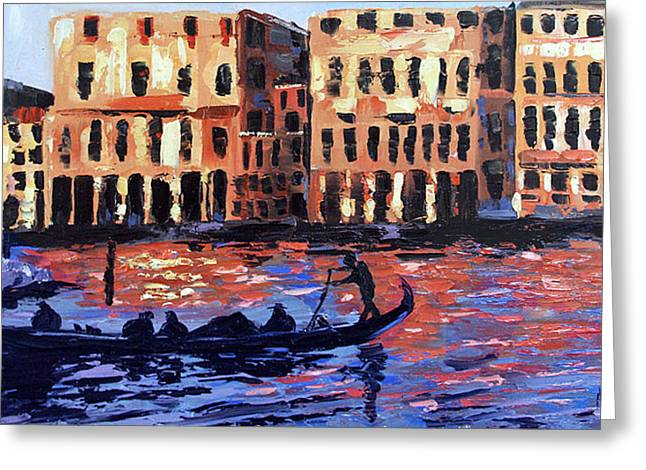 Impressionist Framed Prints Greeting Cards - Venice At Twilight Greeting Card by Anthony Falbo