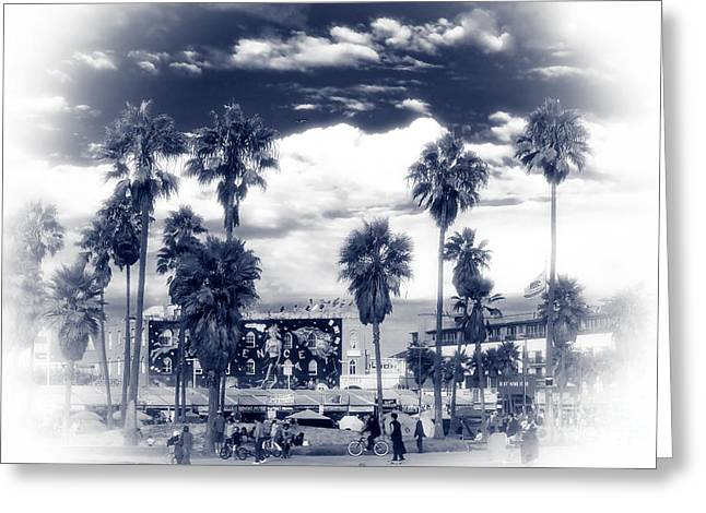 Venice Beach Haze Greeting Card by John Rizzuto