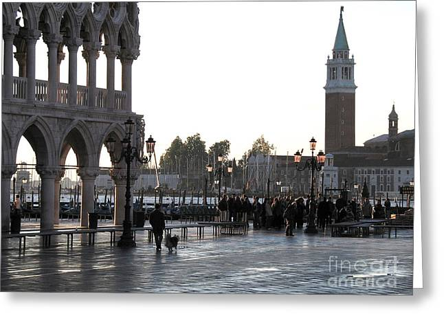 Saint Marc Greeting Cards - Venice Greeting Card by Bernard Jaubert