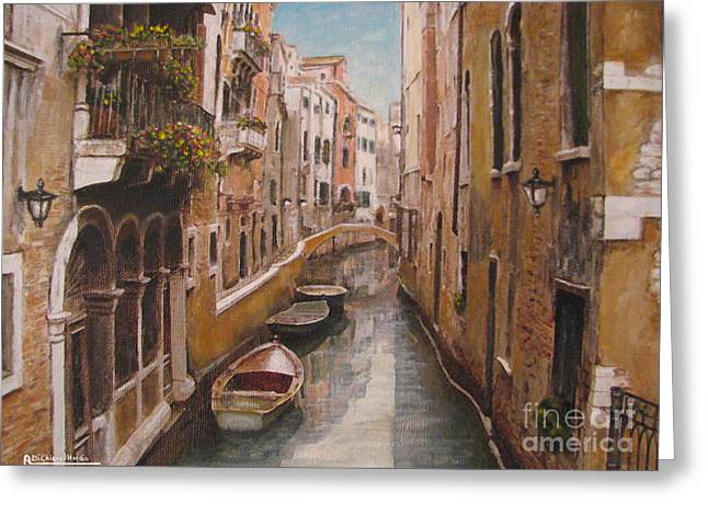 Chianti Greeting Cards - Venice-Canale Veneziano Greeting Card by Italian Art