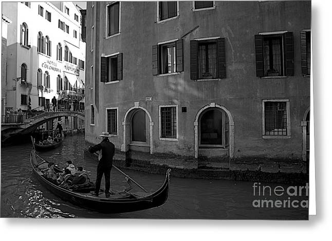 Famous Bridge Mixed Media Greeting Cards - Venice Canals Greeting Card by Louise Fahy