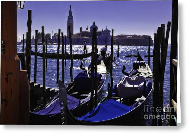 Gondolier Greeting Cards - Venice Dream Greeting Card by Madeline Ellis