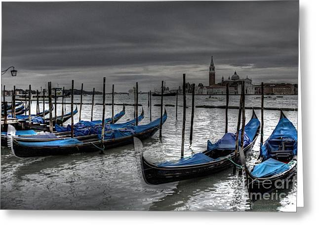 Kansas City Photographer Greeting Cards - Venice Gondolas  Greeting Card by Crystal Nederman
