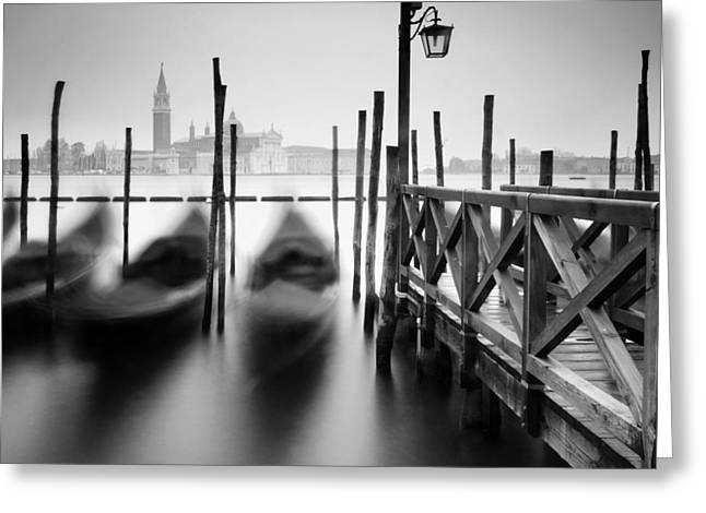 Latern Greeting Cards - Venice Gondolas II Greeting Card by Nina Papiorek