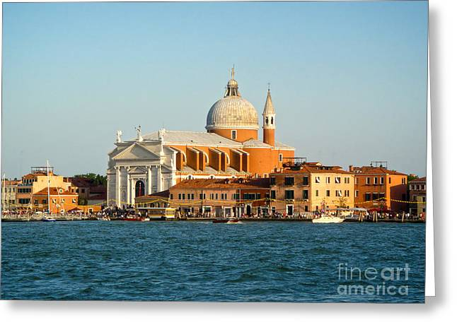 Gregory Dyer Greeting Cards - Venice Italy - San Giorgio Maggiore island Greeting Card by Gregory Dyer
