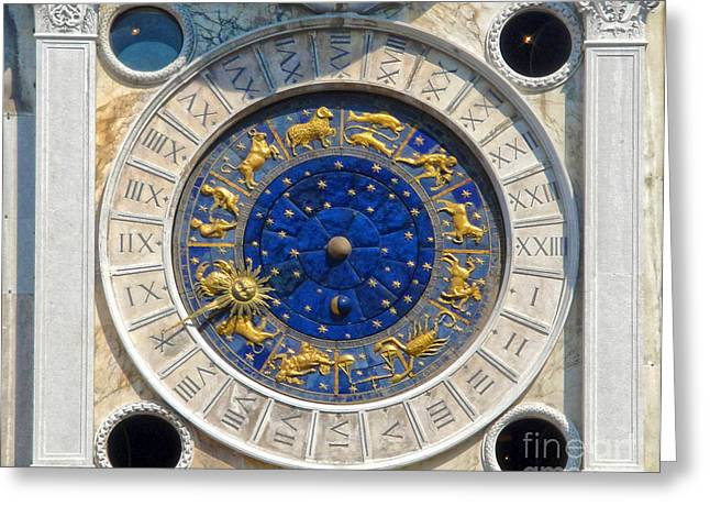 Gregory Dyer Greeting Cards - Venice Italy - St.Marks Clock Tower Greeting Card by Gregory Dyer