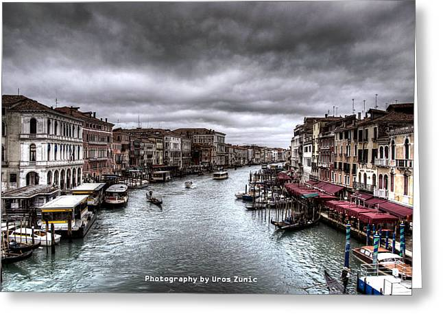 Uros Zunic Greeting Cards - Venice landscape hdr Greeting Card by Uros Zunic