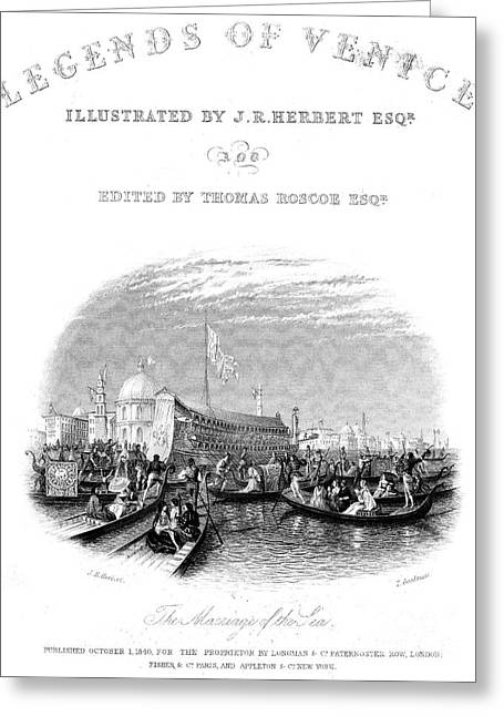 Titlepage Greeting Cards - Venice: Marriage Of The Sea Greeting Card by Granger
