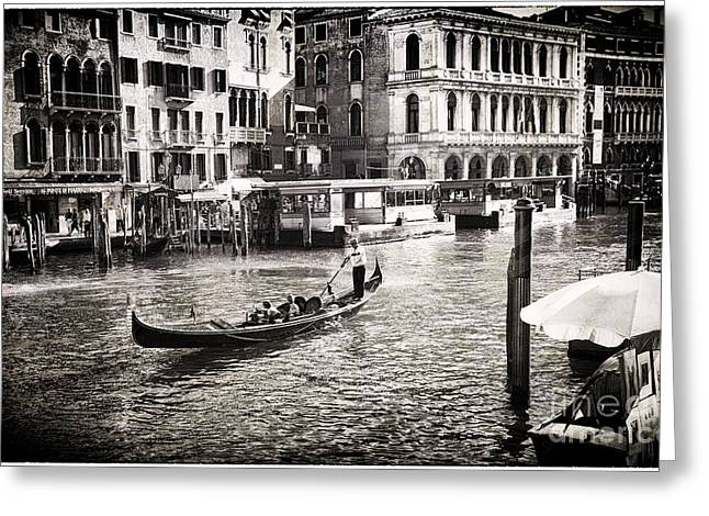 Gondolier Greeting Cards - Venice Memory Greeting Card by Madeline Ellis