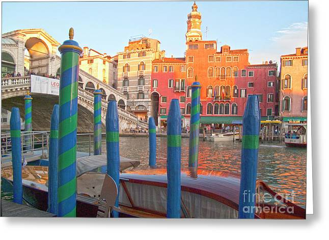 Venice Rialto Bridge Greeting Card by Heiko Koehrer-Wagner