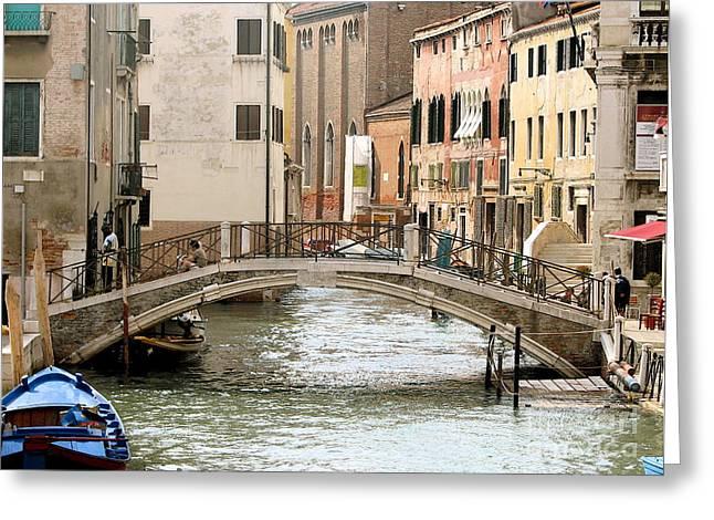 Italian Art Photographs Greeting Cards - Venice Venezia Venetian bridge Greeting Card by Italian Art