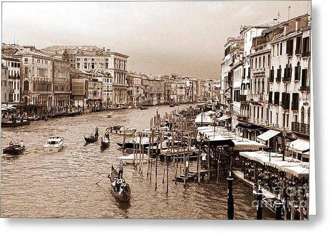Greeting Cards - Venice Vintage Greeting Card by Holger Ostwald