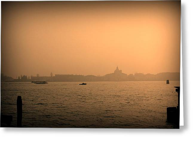 Venice Water Greeting Card by Kevin Flynn