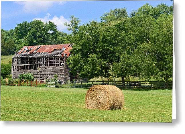 Hay Bales Greeting Cards - Ventilated Barn 16 Greeting Card by Douglas Barnett