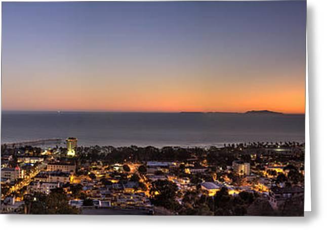 Santa Cruz Pier Greeting Cards - Ventura and Anacapa and Santa Cruz Islands HDR Greeting Card by Joe  Palermo