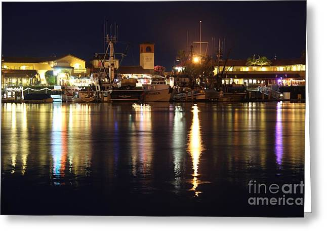 Ventura California Greeting Cards - Ventura Harbor Village Greeting Card by Mariola Bitner