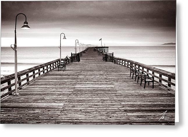 Ventura Greeting Cards - Ventura Pier Greeting Card by Steve Munch