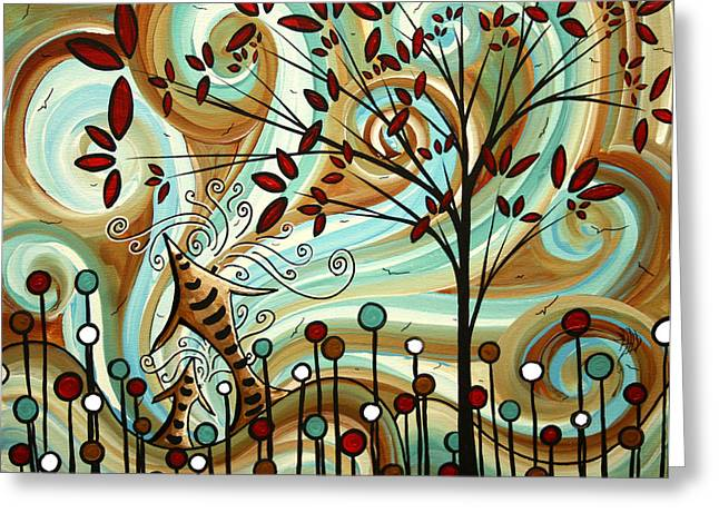 Licensor Greeting Cards - Venturing Out by MADART Greeting Card by Megan Duncanson