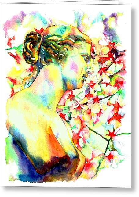 Nudes Sculptures Greeting Cards - Venus De Milo Greeting Card by Christy  Freeman
