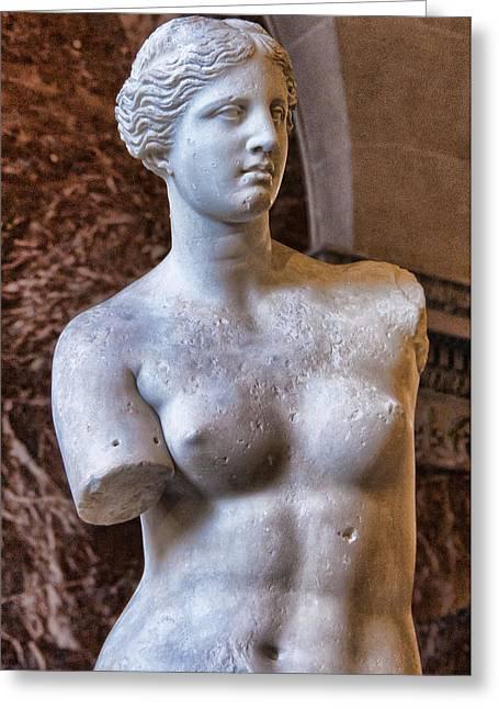 Aphrodite Of Milos Greeting Cards - Venus de Milo Greeting Card by Jon Berghoff