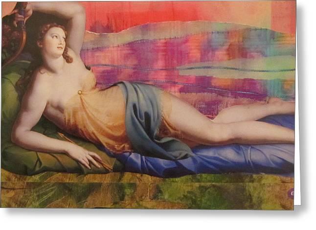 Venus In Love Greeting Card by Kanchan Mahon