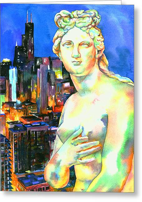Greek Sculpture Greeting Cards - Venus in the City Greeting Card by Christy  Freeman