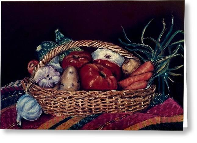 Dallas Pastels Greeting Cards - Verduras Greeting Card by Diana Moya