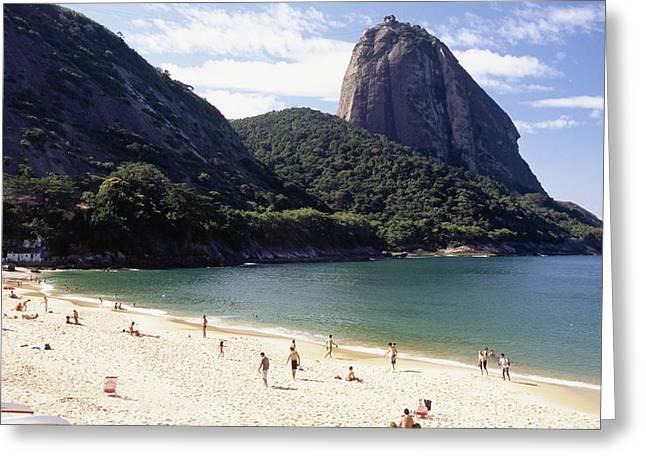 Beach Activities Greeting Cards - Vermelha Beach Rio de Janeiro Greeting Card by George Oze