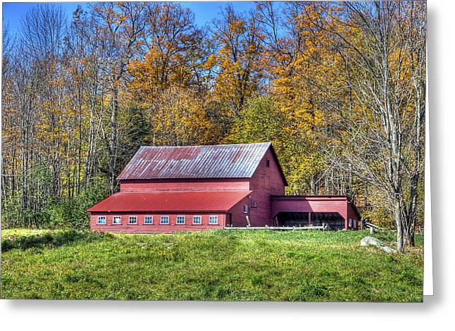 Brown Photographs Greeting Cards - Vermont Barn Greeting Card by Dennis Clark