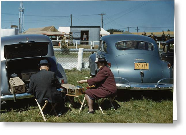 American Automobiles Greeting Cards - Vermont State Fair, 1941 Greeting Card by Granger