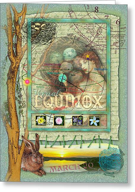 Vernal Greeting Cards - Vernal Equinox Greeting Card by Ernestine Grindal