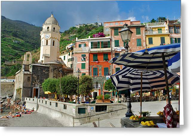 Jeka World Photography Greeting Cards - Vernazza Greeting Card by Jeff Rose