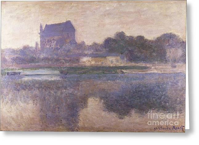 Vernon Church in Fog Greeting Card by Claude Monet