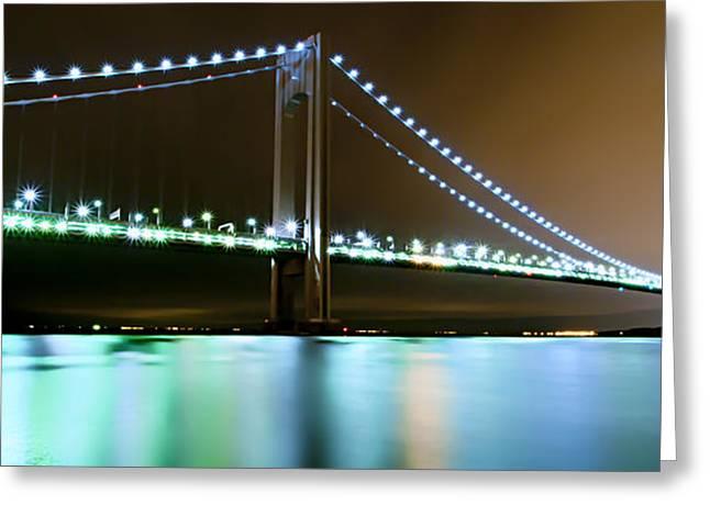 York Beach Greeting Cards - Verrazano-Narrows Bridge01 Greeting Card by Svetlana Sewell