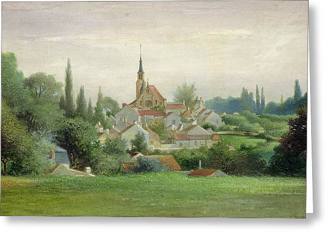 Village Views Greeting Cards - Verriere le Buisson Greeting Card by Eugene Bourrelier