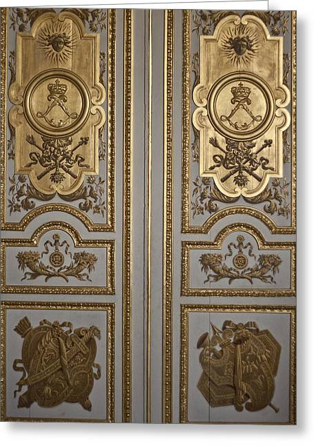 France Doors Greeting Cards - Versailles Door Greeting Card by Nomad Art And  Design