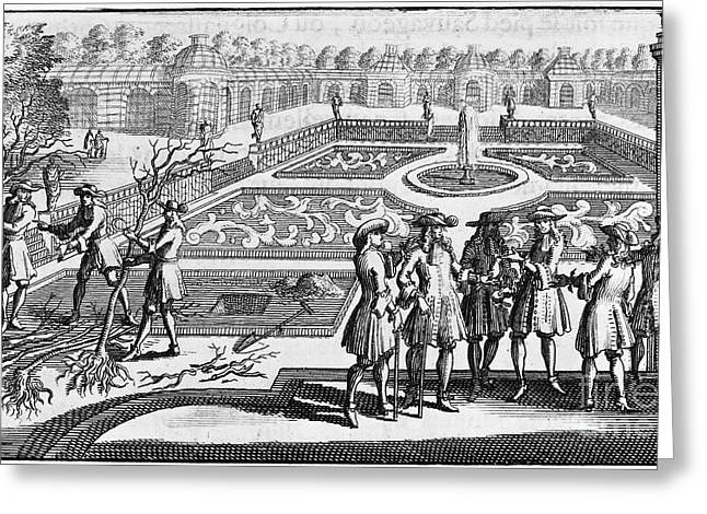 Versailles: Gardens, 1690 Greeting Card by Granger