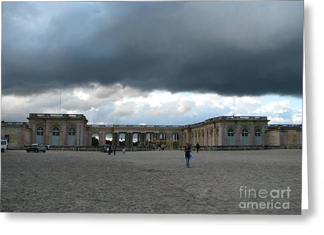 Trianon Greeting Cards - Versailles under a Cloud Greeting Card by Erik Falkensteen