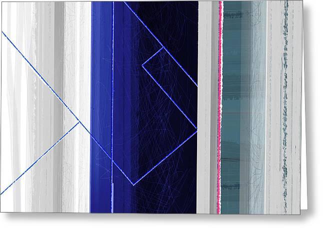Vertical Rain Greeting Card by Naxart Studio