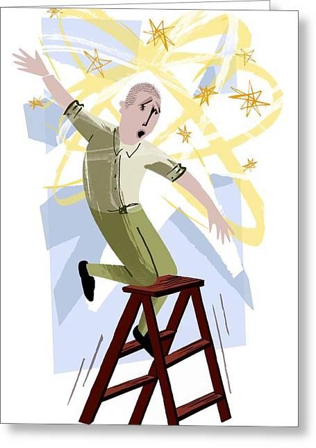 Psychiatric Greeting Cards - Vertigo, Conceptual Artwork Greeting Card by Paul Brown