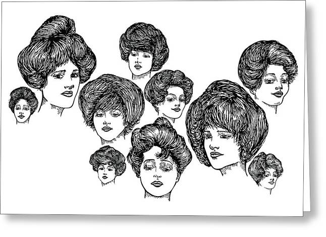 Imagination Drawings Greeting Cards - Very Pretty Lady Faces Greeting Card by Karl Addison