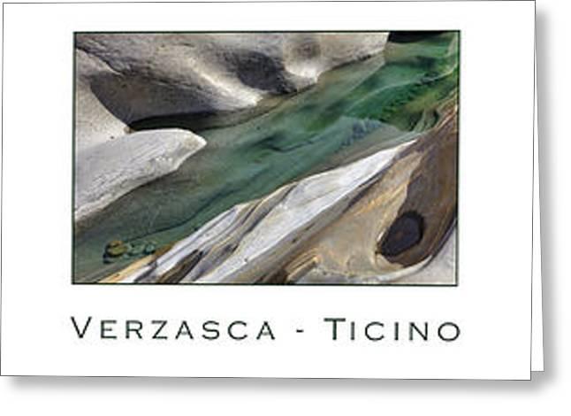 Verzasca Stones Greeting Card by Joana Kruse