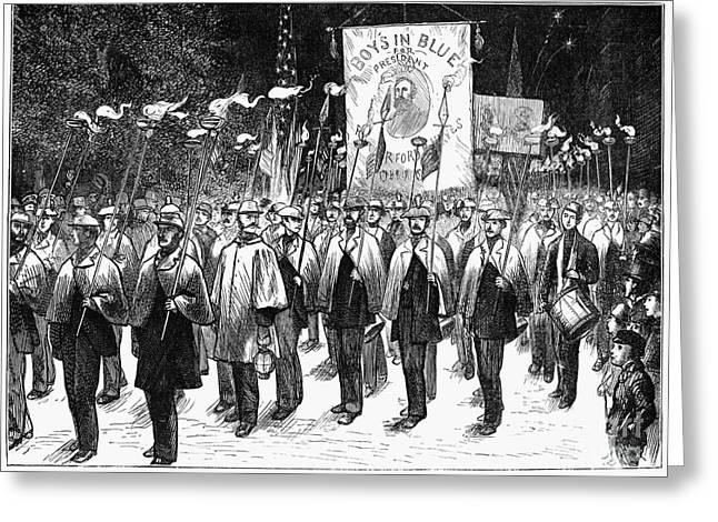 1876 Greeting Cards - Veteran March, 1876 Greeting Card by Granger