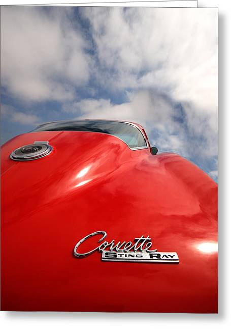Fast Cars Greeting Cards - Vette Window Greeting Card by Peter Tellone