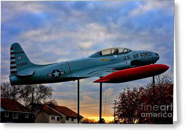 Vfw Greeting Cards - VFW F-80 Shooting Star Greeting Card by Tommy Anderson