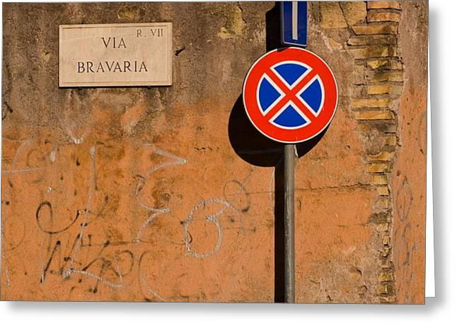 Via Bravaria Greeting Card by Art Ferrier
