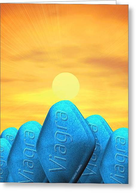 Medication Greeting Cards - Viagra Pills Greeting Card by Victor Habbick Visions